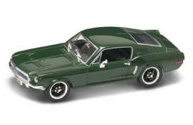 Lucky Diecast - Ford  - ldc43207Bullit : 1968 Ford Mustang GT Bullit version, *Premium series* with extra details and in special Steve McQueen packaging, green