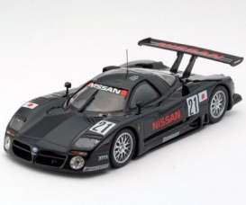 Kyosho - Nissan  - kyo3331a : 1997 Nissan R390GT1 #21 24h Le Mans pre-qualifications model, black