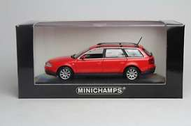 Minichamps - Audi  - mc430017110 : 1997 Audi A6 Avant, red