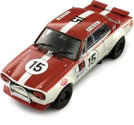 Kyosho - Nissan  - kyo3028D : Nissan Skyline 2000 GT-R (KPGC10) #15, red/white