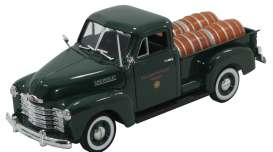 Signature Models - Chevrolet  - sig32391gn : 1950 Chevrolet pick-up with barrels in the back, green/black
