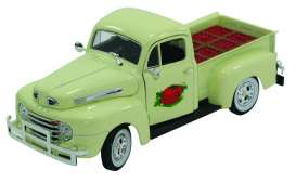 Signature Models - Ford  - sig32388be : 1949 Ford F1 pick-up with tomato boxes in the back, beige