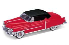Welly - Cadillac  - welly22414Hr : 1953 Cadillac Eldorado Convertible with closed softtop, red/black