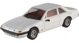 Hotwheels Elite - Ferrari  - hwmvW1192 : 1972 Ferrari 365 GT4 2+2, white w/red interior (Limited Edition, elite matt black packaging) (Ferrari produced for Austrian composer & conductor Herbert von Karajan)