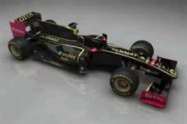 Minichamps - Lotus Renault - mc410110079 : 2011 Lotus Renault GP Showcar R. Kubica, black/gold