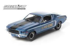 GreenLight - Ford  - gl12844 : 1968 Ford Mustang GT Fastback *Jimbos Pure Oil* Go Go Gone, Racing Tribute Edition