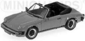 Minichamps - Porsche  - mc100063034 : 1983 Porsche 911 Carrera cabriolet, grey metallic
