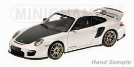 Minichamps - Porsche  - mc100069400 : 2011 Porsche 911 (997 II) GT2 RS, white