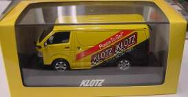 J Collection - Toyota  - jc3600Klozt : 2007 Toyota Hiace limited edition made for Japanese market only in special *Klozt Racing Power* packaging, yellow