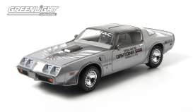 GreenLight - Pontiac  - gl12848 : 1979 Pontiac Trans Am Daytona 500 Pace Car with Shaker Hood, silver. !! Limited edition only 240pcs made for Europe !!