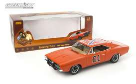 Auto World - Dodge  - AMM964 : 1969 Dodge Charger *Dukes of Hazard* General Lee, orange. Made from the ERTL AUTHENTIC moulds so very good quality with lots of extra details.