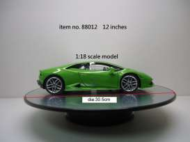 WT - Accessoires diorama - WT88012 : Rotary Display large 12inch which is about 30.5 cm with mirror surface. Good for all your 1/18 modelcars. Works on batteries (not included).