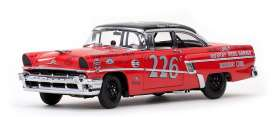 SunStar - Mercury  - sun5145 : 1956 Mercury Montclair Hard Top *Murray Bros. Garage* race car, red/black