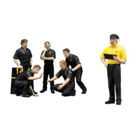 TrueScale - Lotus  - tsm12AC08 : 1/18 F1 Pit Crew Figurines *JPS* Team Lotus 1977 (Set of 6)