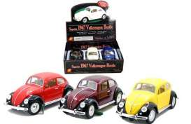 Sunnyside - Volkswagen  - SS9701D~3 : 1/18 1967 Volkswagen Classic Beetle in a tray with 3pcs. Various colours like on the picture will be in the display tray.