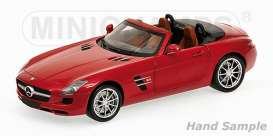 Minichamps - Mercedes  - mc100039030 : 2011 Mercedes Benz SLS AMG Roadster, red