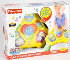 Mattel Fisher Price - Baby Articles   - MatR7871$ : Fisher Price Brilliant Basics Light & Sound Activity Table.Age Grade 9 months+