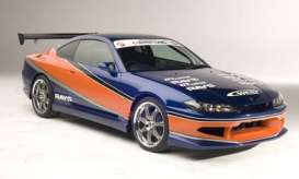 GreenLight - Nissan  - gl86215 : 2001 Nissan Silvia S15 Fast and The Furious Tokyo Drift (2006), blue/orange