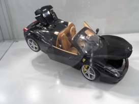 Hotwheels Elite - Ferrari  - hwmvBCJ90 : 2012 Ferrari 458 Spider, black with beige interior.
