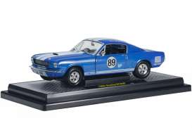 M2 Machines - Shelby  - M2-40300-33B : 1965 Shelby GT350 #89bp, blue/white