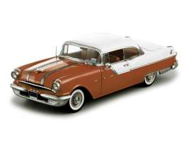 SunStar - Pontiac  - sun5043 : 1955 Pontiac Star Chief Hard Top, white mist/ firegold