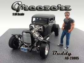 American Diorama - Figures  - AD23805 : 1/18 Greezerz *Buddy* (car not included!)