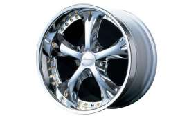 Aoshima - Rims & tires Wheels & tires - abk130448 : 1/24 Amistad V & 19 inch Streched Tire (Chrome Plated),