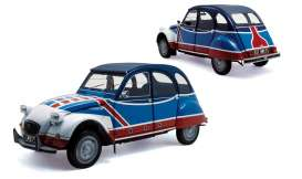 Norev - Citroen  - nor181498 : 1976 Citroen 2CV Basket, blue/white/red