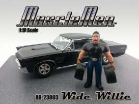 American Diorama - Figures  - AD23803*1 : 1/18 Musclemen *Wide Willie* (car not included).