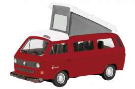 Schuco - Volkswagen  - schuco25872*1 : Volkswagen T3 Campingbus with open roof, red