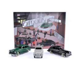 Norev - Ford Citroen - norc80910 : Set with 3 models From Salon de Paris 1949. Citroen 2CV, Ford Vedette and Peugeot 203