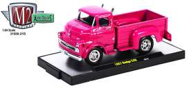 M2 Machines - Dodge  - M2-31500-21D2 : 1957 Dodge COE pick-up, pink