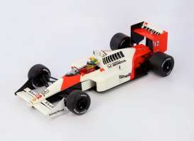 Ixo Premium X - McLaren  - ixSENR18002 : 1988 McLaren Honda 4/4 Ayrton Senna GP Japan *Highly Detailed Resin Series*, red/white