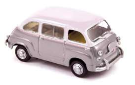 Norev - Fiat  - nor770057 : 1956 Fiat 600 Multipla, grey/white