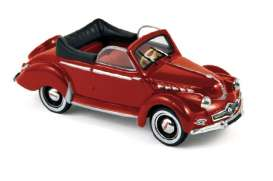 Norev - Panhard  - nor45183 : 1951 Panhard Dyna X Cabriolet, red