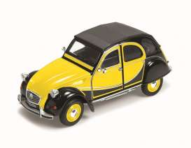 Welly - Citroen  - welly24009ybk : 1982 Citroen Charleston 2CV, yellow/black
