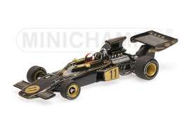Minichamps - Lotus Ford - mc400720011 : 1972 Lotus Ford 72 #11 D. Walker USA GP, black/gold