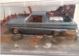 Magazine Models - Ford  - magJBfalcon : Ford Falcon Ranchero James Bond *Goldfinger*,blue