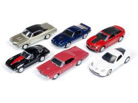 Auto World - Assortment/ Mix  - AW64001A~6 : 1/64 Autoworld Muscle series 1A mix of 6.