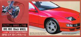 Fujimi - Rims & tires Wheels & tires - fuji19134 : #10 BRS MI0 18inch Rim & Pirelli P-Zero tyre. Good for 1/24 and 1/25 plastic modelkits