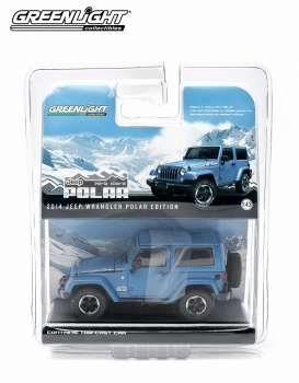 GreenLight - Jeep  - gl86054 : 2014 Jeep Wrangler Polar Limited Edition, hydro blue