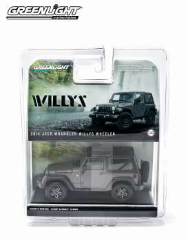 GreenLight - Jeep  - gl86055 : 2014 Jeep Wrangler Willys Wheeler Edition, granite