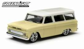 GreenLight - Chevrolet  - gl86058 : 1966 Chevrolet Suburban, yellow with white roof