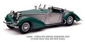SunStar - Horch  - sun2404 : 1939 Horch 855 Roadster, silver grey/dark green