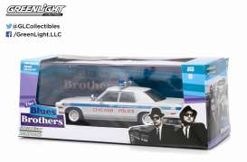 GreenLight - Dodge  - gl86422 : 1975 Dodge Monaco Chicago Police *Blues Brothers (1980)*, blue/white