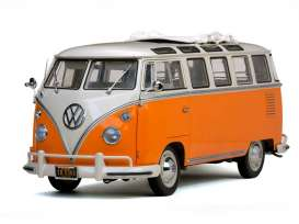 SunStar - Volkswagen  - sun5080 : 1962 Volkswagen Samba-bus, beige grey/orange
