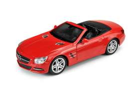 Welly - Mercedes  - Welly43662C : 1/34-1/39 2012 Mercedes Benz SL500 convertible, red