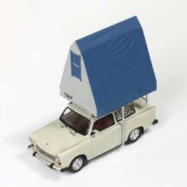 Ixo Ist Collection - Trabant  - ixist188 : 1980 Trabant 601 with roof tent, light grey