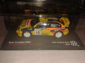 Magazine Models - Seat  - MagRAcordo99 : 1999 Seat Cordoba WRC New Zealand Rally Gardemeister/Lukander, yellow