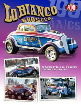 Acme Diecast - Willys  - acme1800902 : 1933 Willys Gasser *LO Bianco Bros & Co*